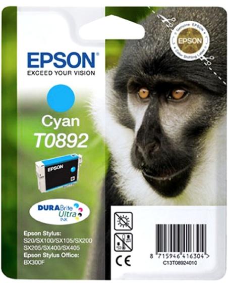 Epson T0892 cyan Originál Originální cartridge Epson T0892 - azurová