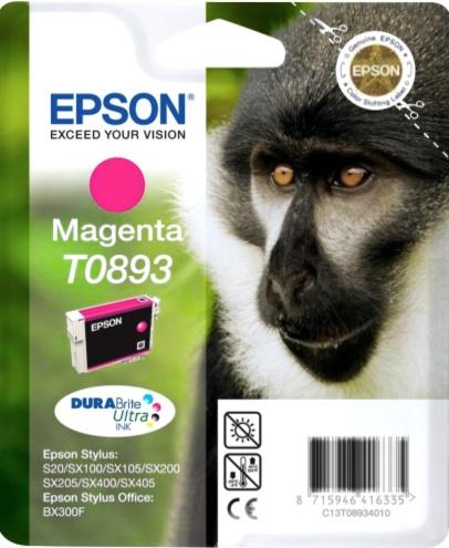 Epson T0893 magenta Originál Originální cartridge Epson T0893 - purpurová