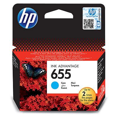 HP 655 (HP CZ110AE) cyan Originál 12 ml Originální cartridge HP655 (HP CZ110AE) - azurová