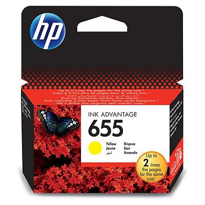 HP 655 (HP CZ112AE) yellow Originál 12 ml Originální cartridge HP655 (HP CZ112AE) - žlutá