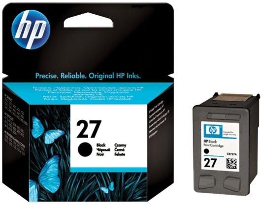 HP 27 (C8727AE) black Originál Originální černá náplň HP27 (C8727A)