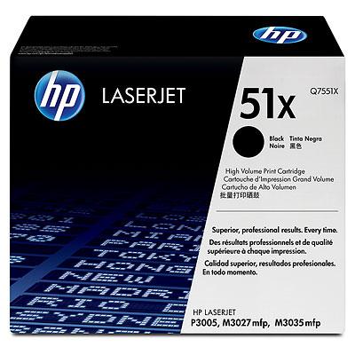 HP Q7551X (HP 51X) black Originál Originální cartridge HPQ7551 X (HP51X) - černá