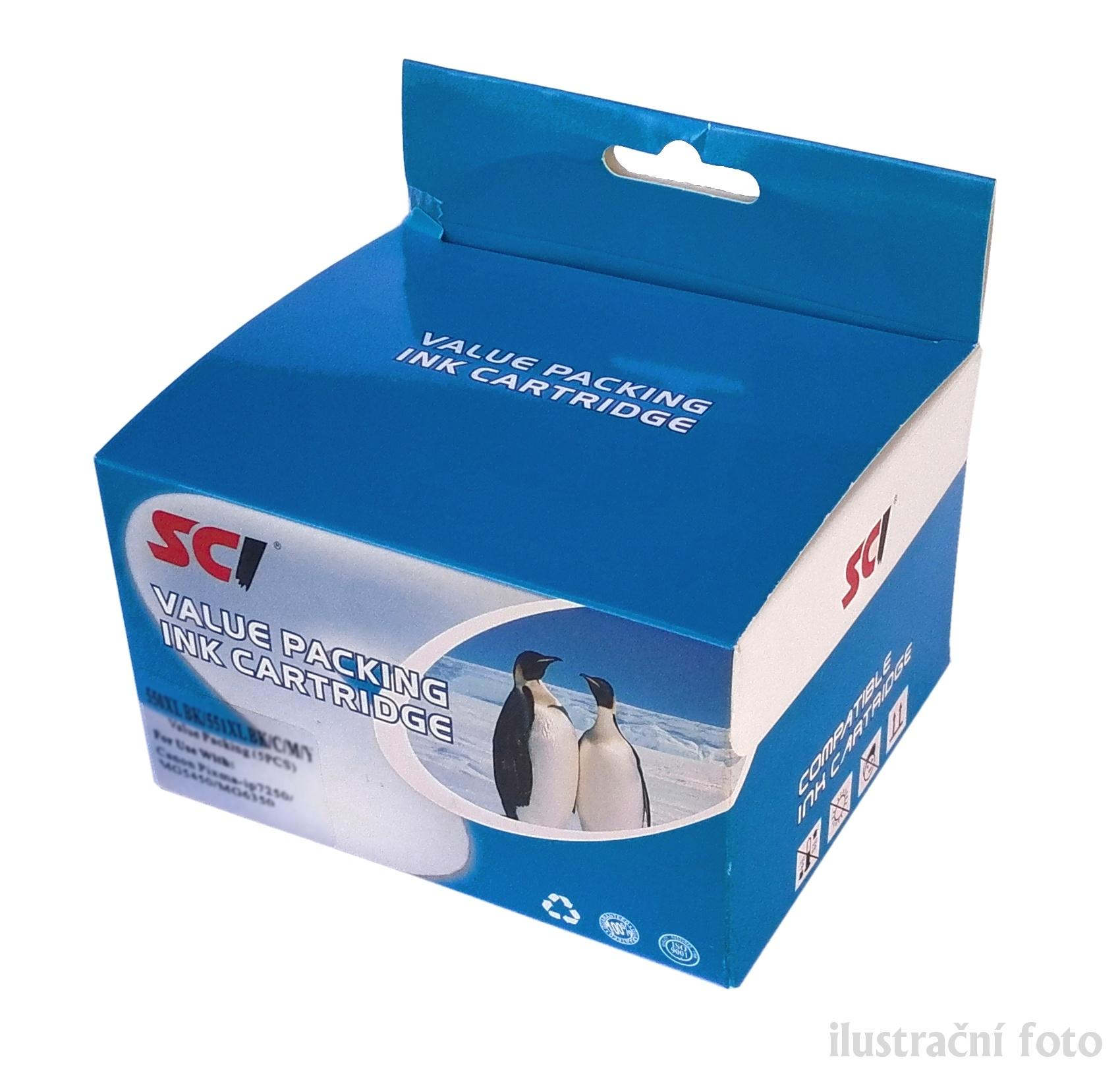 Canon CLI-526 multipack Bk/C/M/Y + PGI525Bk compatible Kompatibilní cartridge CLI526 a PGI525 - sada 5-ti barev