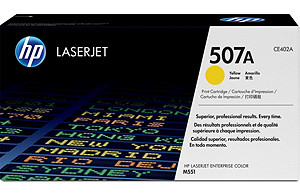 HP CE402A (HP 507A) yellow Original Originální cartridge HP CE 402A (HP507A) - žlutá