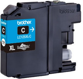 Brother LC-125XLC - cyan Original Originální cartridge Brother LC-125 XLC - azurová