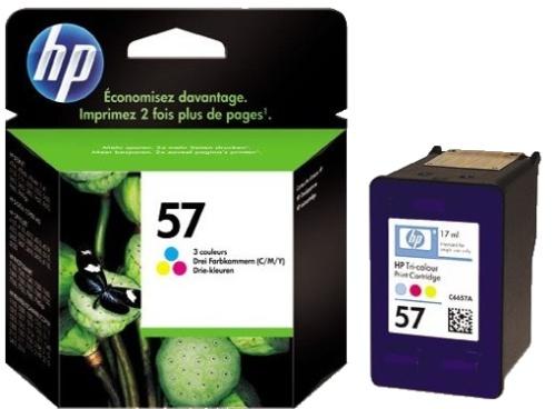 HP 57 (C6657AE) color Originál Originální cartridge HP57 (C6657A) - barevná