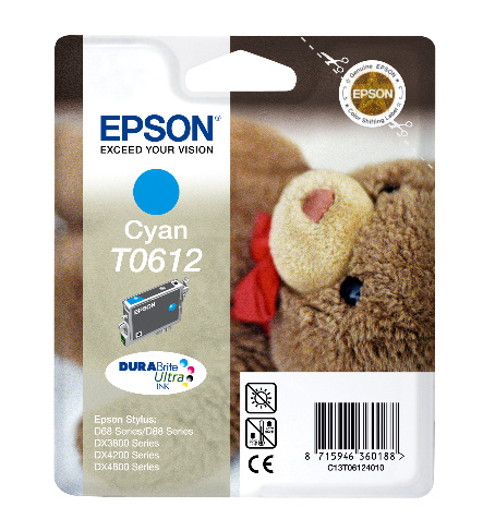 Epson T0612 cyan Original Originální cartridge Epson T 0612 - azurová