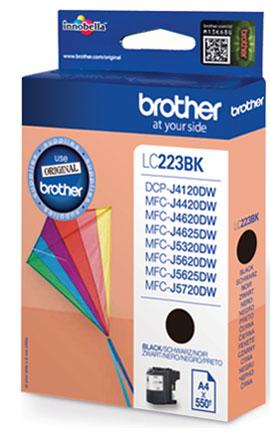 Brother LC-223BK black - original Originální cartridge Brother LC 223BK - černá