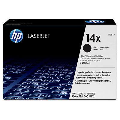 HP CF214X (HP 14X) black original Originální cartridge HP CF 214X (HP14X) - černá