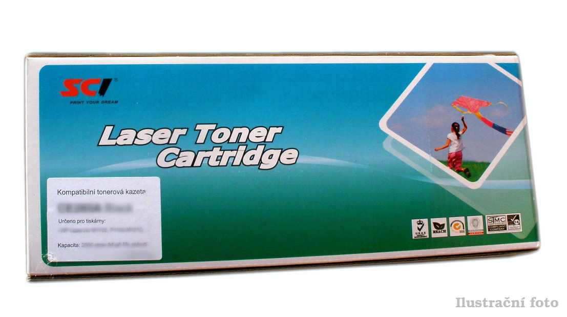 HP CF380X (HP 312X) - black compatible Kompatibilní cartridge HP CF 380X (HP312X) - černá