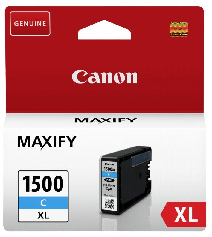 Canon PGI-1500xl cyan Originální cartridge Canon PGI1500 xl - azurová