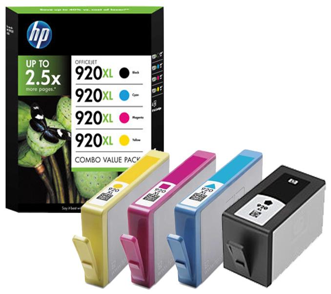 HP 920xl (C2N92AE) multipack Originální cartridge HP920xl - sada Bk/C/M/Y