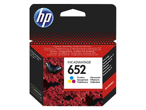 HP 652 color (F6V24AE) original Originální cartridge HP 652 - barevná