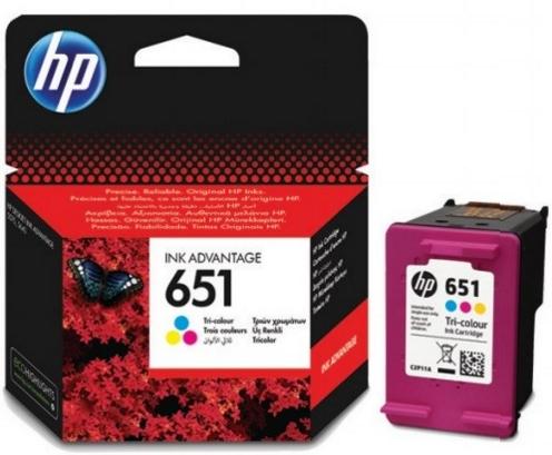 HP 651 (C2P11AE) color original Originální cartridge HP651 - barevná