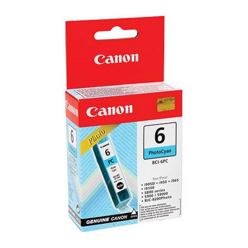 Canon BCI-6PC photo cyan Originál Originální inkoust Canon BCI6 PC - světle modrá