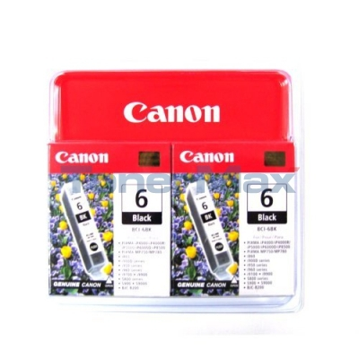 Canon BCI-6Bk - black TwinPack Originál Originální inkoust Canon BCI6 Bk - černý (2x)
