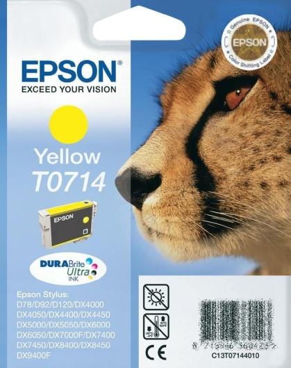 Epson T0714 yellow Originál Originální náplň Epson T 0714 - žlutá