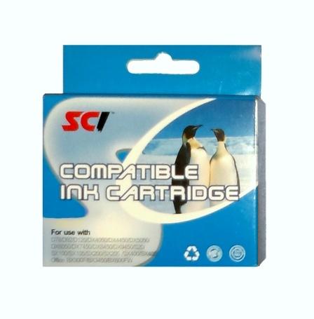 Epson T0712 cyan compatible - 14 ml Kompatibilní cartridge Epson T 0712 - azurová