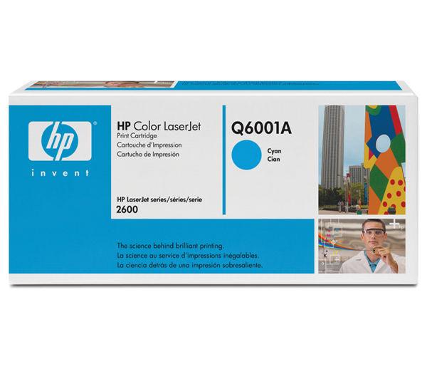 HP Q6001A (HP 124A) cyan Originál Originální cartridge HPQ6001A (HP124A) - azurová