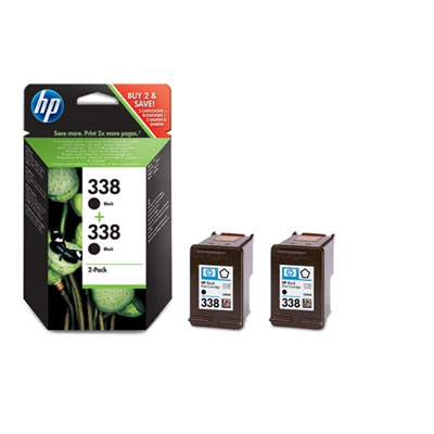 HP 338 (HP CB331EE) black Originál - twinpack Originální cartridge HP338 (C8765EE) - černá (2x)