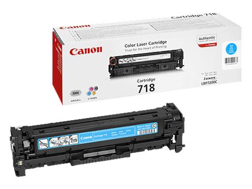 Canon CRG-718C cyan Originál Originální cartridge Canon CRG718 cyan - azurová