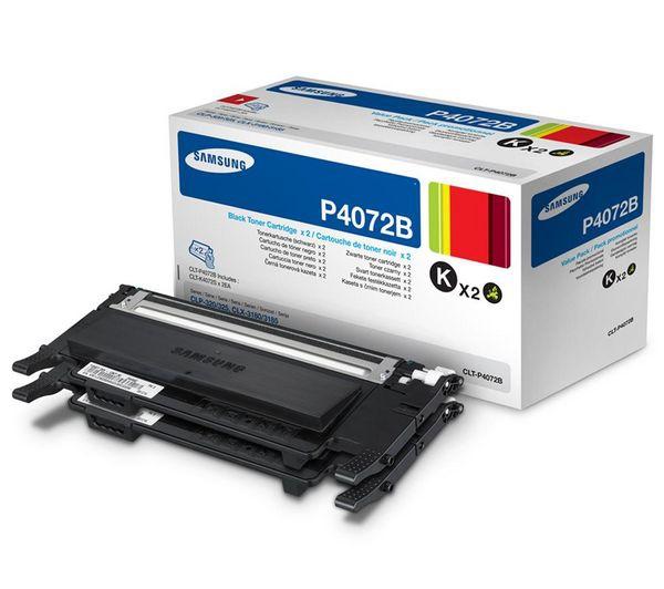 Samsung CLT-P4072B black twinpack Originál Originální cartridge Samsung CLTP4072B - černá (2x)