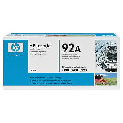 HP C4092A (HP 92A) black Originál Originální cartridge HP C4092A (92A) - černá
