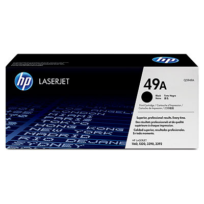 HP Q5949A (HP 49A) black Originál Originální cartridge HP Q5949A - černá