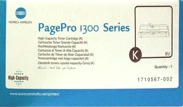 Konica Minolta PP1300/1350/1380 black Originál Originální cartridge Konica Minolta 1710567002 - černá