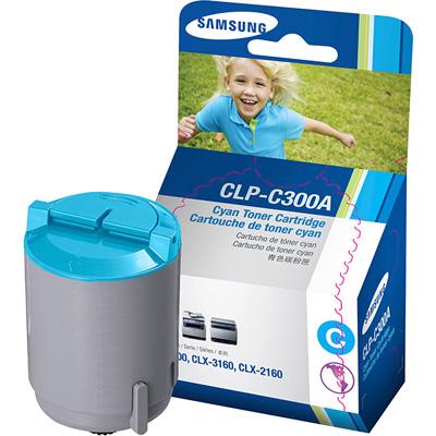 Samsung CLP-C300A cyan Originál Originální cartridge Samsung CLP C300A - azurová