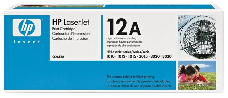 HP Q2612A (HP 12A) black original Originální cartridge HP Q2612A (12A) - černá