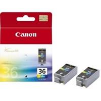 Canon CLI-36 color Originál TwinPack Originální cartridge Canon CLI36 - barevná (2x)