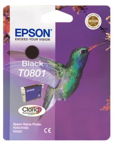 Epson T0801 black Originál Originální cartridge Epson T0801 - černá