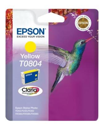 Epson T0804 yellow Originál Originální cartridge Epson T0804 - žlutá