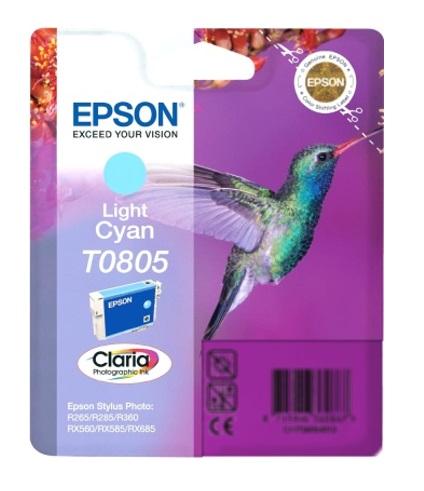 Epson T0805 light cyan Originál Originální cartridge Epson T0805 - světlá azurová
