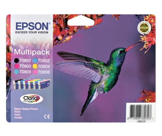Epson T0807 multipack (6color) Originál Originální cartridge Epson T0807 - sada - 6 barev