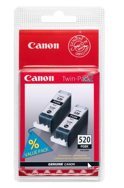 Canon PGI-520Bk black Originál twinpack Originální cartridge Canon PGI520 Bk - černá (2x)
