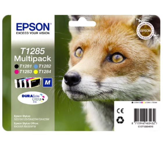 Epson T1285 multipack (BkCMY) Originál Originální cartridge Epson T1285 - sada (BCMY)