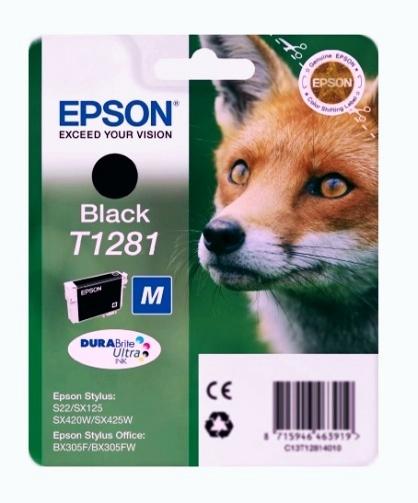 Epson T1281 black Originál Originální cartridge Epson T1281 - černá