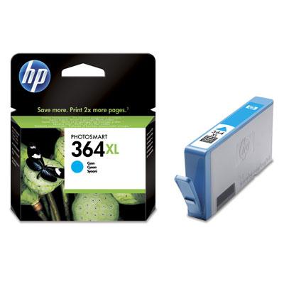 HP CB323EE (HP 364 XL) cyan Originál Originální cartridge HP CB323E (HP 364xl) - azurová