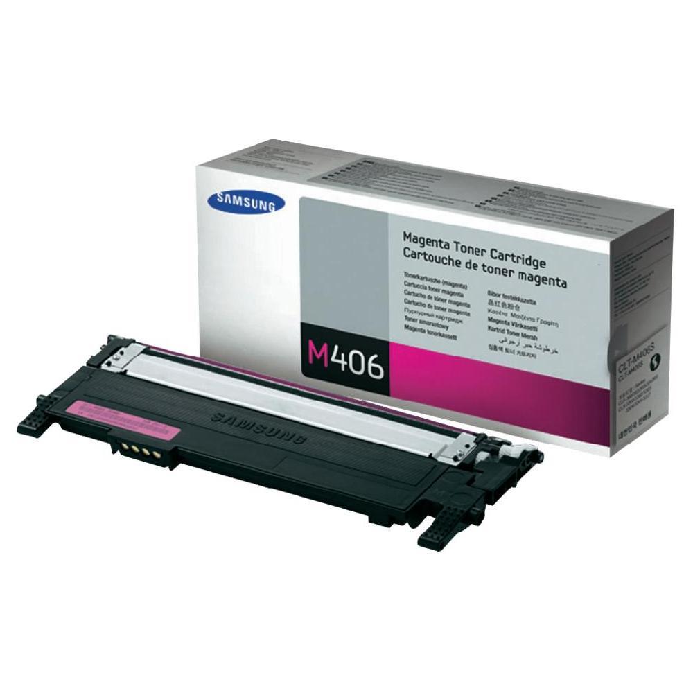 Samsung CLT-M406S magenta Originál Originální cartridge Samusng CLTM406S - purpurová