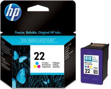 HP 22 (C9352AE) color original Originální cartridge HP22 - barevná