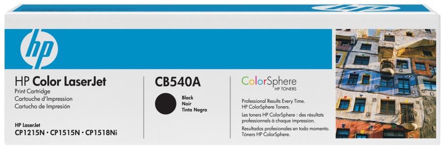 HP CB540A (HP 125A) black Originál Originální cartridge HP CB 540A (HP125A) - černá