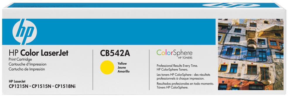 HP CB542A (HP 125A) yellow Originál Originální cartridge HP CB 542A (HP125A) - žlutá