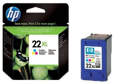HP 22 XL (C9352CE) color original Originální cartridge HP 22xl - barevná