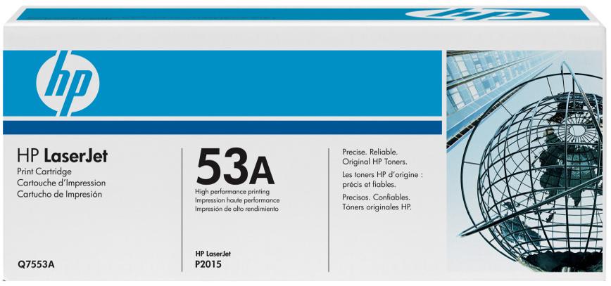 HP Q7553A (HP 53A) black Originál Originální cartridge HP Q7553A (HP 53A) - černá