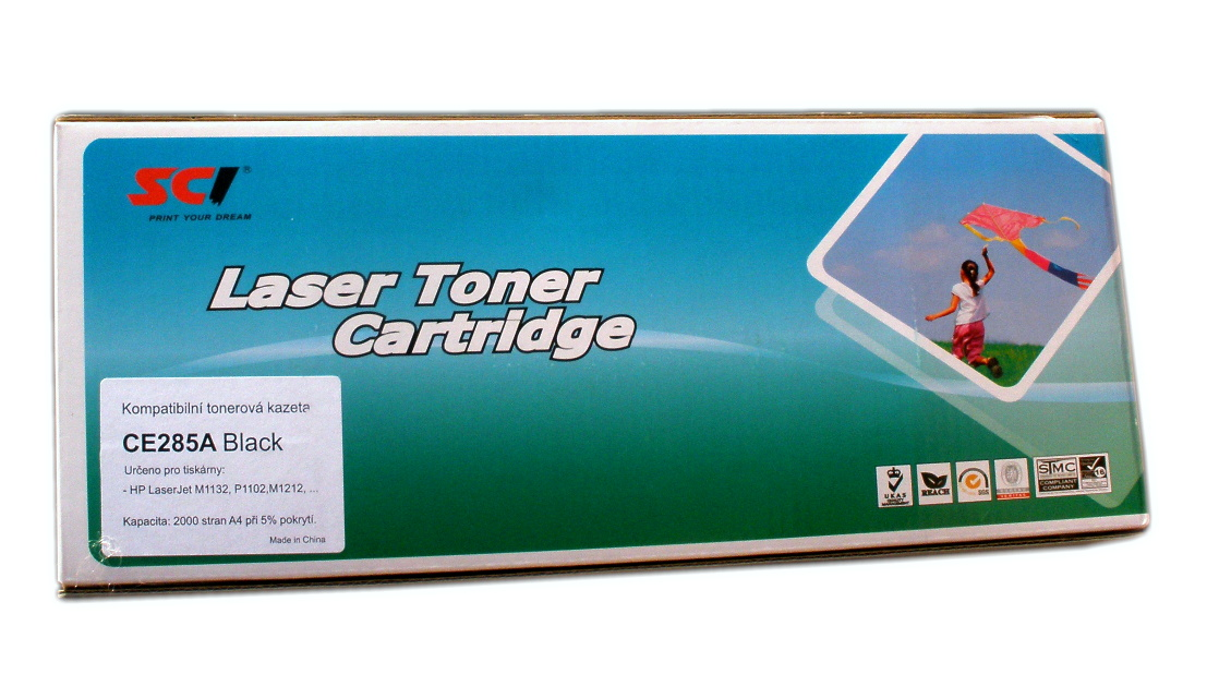 HP CE285A (HP 85A) black compatible Kompatibilní cartridge HP CE 285A (HP85A) - černá