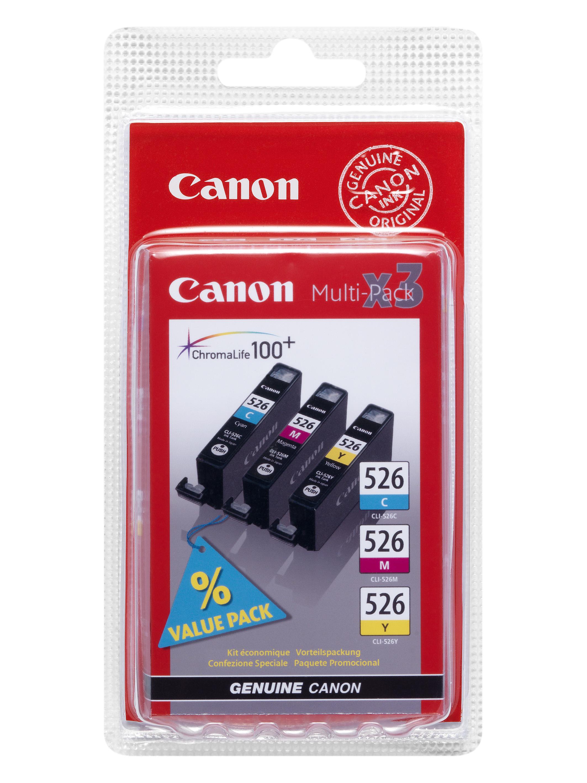 Canon CLI-526 C/M/Y MultiPack originál Originální sada náplní CLI526CMY