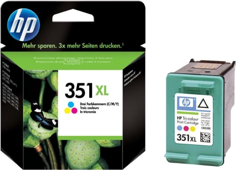 HP 351 XL (CB338EE) color Originál Originální barevná náplň HP 351xl