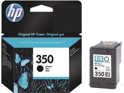HP 350 (CB335EE) black Originál Originální černá náplň HP350